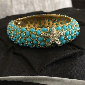 Turquoise Stoned Cuff Bracelet